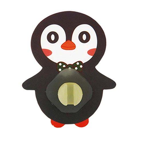 Set von 5 kreative niedlichen Pinguin Zahnbürste Zahnpasta Halter Bad Zubehör für Kinder, D