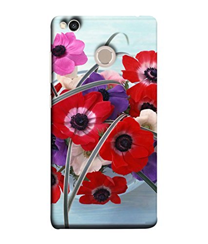 PrintVisa Designer Back Case Cover for Xiaomi Redmi 4 (Floral Plant Bloom Red Fresh Pink Colorful Green)