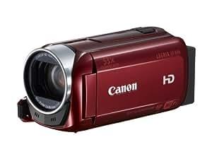 Canon Legria HF R46 Full-HD Camcorder (3,2 Megapixel, 32-fach opt. Zoom, 7,5 cm (3 Zoll) Touchscreen, 8GB Flash Speicher, bildstabilisiert, USB) rot