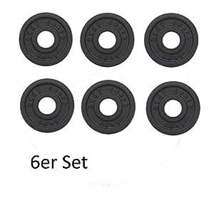 Lot de 6 disques de 0,5 kG en fonte