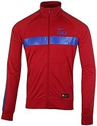 Nike FCB M NSW JKT PK CRE - Chaqueta FC Barcelona para hombre, color rojo, talla L