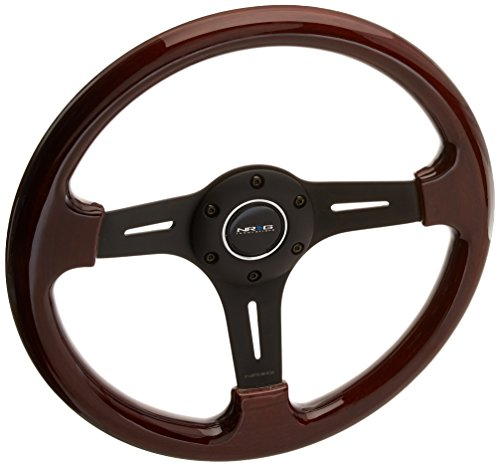 Price comparison product image NRG Steering Wheel Classic Wood Grain with Black Spokes 330mm - Part ST-015-1BK by NRG Innovations