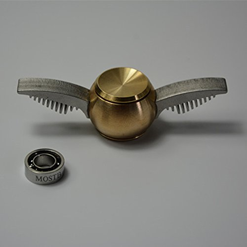 Spinner Fidget,Generic for Golden Ball Angel Wing Style and a Replacement Smooth Mute Bearings
