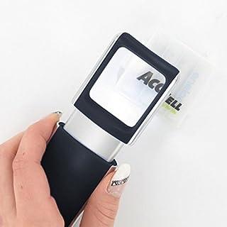 Lupe mit LED-Beleuchtung und 3fach Vergrösserung Farbe Schwarz