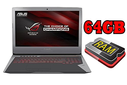 'Asus ROG g752 – 256 GB SSD + 1TB – 32 GB RAM – Windows 10 – 44 cm (17.3 Full HD TFT Mate) – 3 GB nVidia GTX 970 m 256GB SSD + 1TB - 64GB