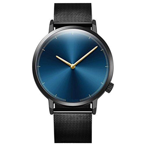 SOMESUN Herren Luxus Quarz Armbanduhren Männer Jungen Fashion Klassische Frosted Metall Rostfreier Stahl Datum Mechanisch Analog Uhr Wasserdicht Geschäft Büro Einfach Uhren (D)