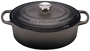Le Creuset 0024147269946 Signature - Tegame ovale in ghisa Flint 29 cm