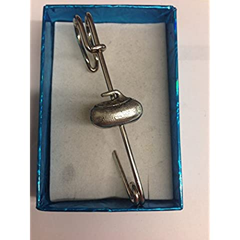 Curling pietra pp-g60Kilt Pin Sciarpa o spilla