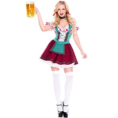 Mittelalterliche Kostüm Zimmermädchen - SPFTOY Damen Dienstmädchen Kostüm Kleid Frauen French Maid Anime Cosplay Zimmermädchen Karneval Fasching Schürze-XL