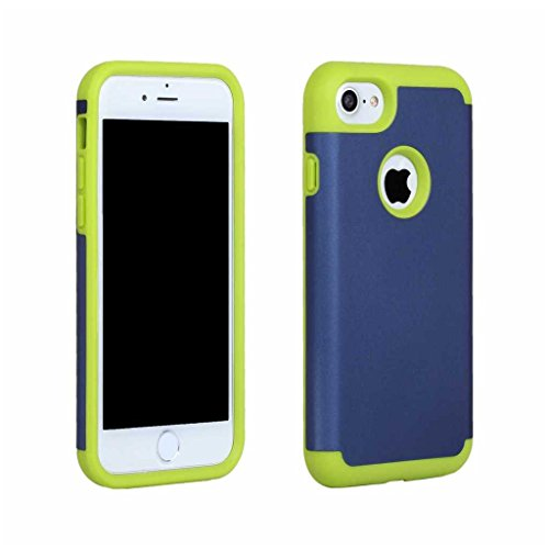 BoxTii®, custodia iPhone 7 [con protezione schermo in vetro temprato inclusa], in morbido TPU + cover rigida in policarbonato, anti-graffio e assorbimento degli urti 2in 1, custodia protettiva poster #12 Dark Blue