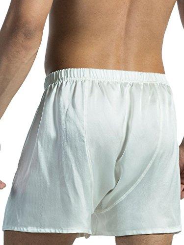 Olaf Benz - PEARL1571 Boxershorts ( reine Seide ) Weiß