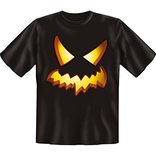 Horror-Tshirt Halloween Blazing Pumpkin Farbe: schwarz Schwarz