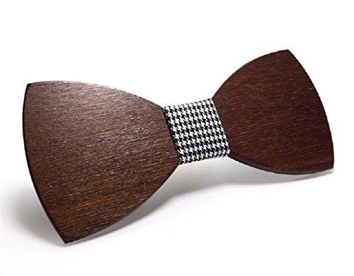 [Garantierter Effekt!] Handgefertigte Holzfliege - Schicker Look - Dandy - Weitere Farben erhältlich / Größenverstellbar (Kostüm Les Dandys)