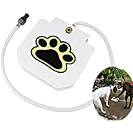 T Tocas Automatic Dogs Fresh Water Fountains, Pet Drinking Outdoor Training Tool, with 1meter Hose Pipe