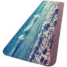 Badezimmerteppich Badematte Sommer Strand Treibholz 60x100x1,0 cm rechteckig