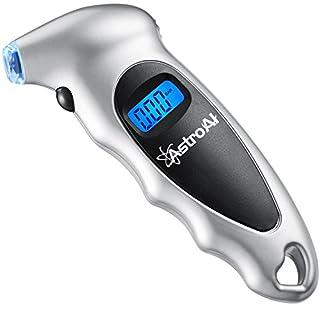 AstroAI Reifendruck Prüfer Digitaler Luftdruckprüfer mit Großem LCD-Display für Autos,Geländewagen, Transporter, Sprinter, LKW, Fahrräder (mit Autoventilen) und Motorräder, Silber