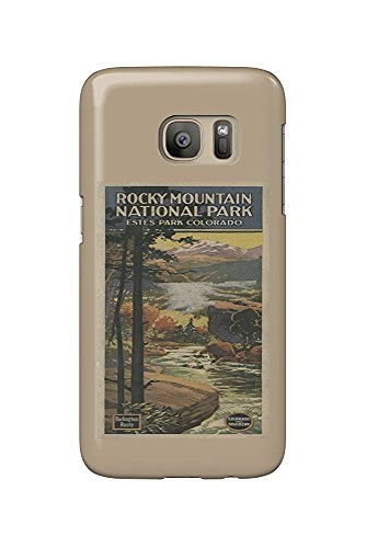 Estes Park, Colorado - Rocky Mt. National Park Brochure # 2 - Vintage Poster (Galaxy S7 Cell Phone Case, Slim Barely There) - Estes Park, Colorado