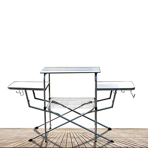 Table De Camping Pique-Nique Pliable, Table De Cuisine Extérieure Mince De Camp De Pliage, Grande pour Le Camping, Plage, Arrière-Cours, Hayon, Barbecue, Partie Et Pique-NIC, Arrière-Cours Commode