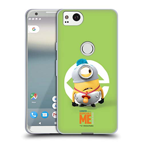 Head Case Designs Offizielle Despicable Me Stuart Baby Kostuem Minions Soft Gel Huelle kompatibel mit Google Pixel 2