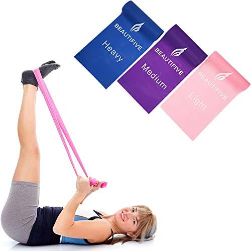 Beautifive fasce elastiche di resistenza, bande elastiche fitness lunghe booty bands, elastico fitness gambe e glutei, elastico fisioterapia, riabilitazione, yoga, pilates, allenamento per la forza