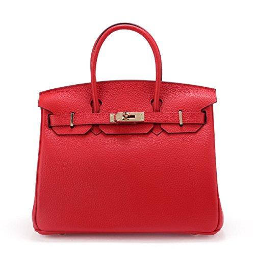 WU Zhi Lady In Pelle In Pelle Goffrata Di Spalla Borsa Red