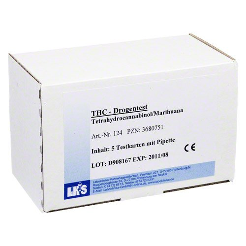 DROGENTEST Tetrahydrocann.Single Card Urin LKS 5 St