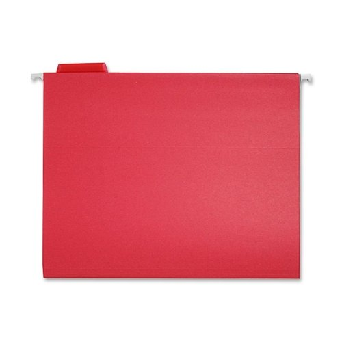 Sparco Hanging Folder, 1/5 Tab Cut, Letter, 25 per Box, Red (SPRSP5215RED)