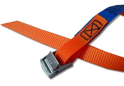 4x Befestigungsriemen ideal zur Befestigung am Fahrradträger , Klemschloss Gurte , Spanngurte , Farbe orange, iapyx®