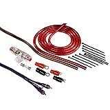 Hama Anschluss-Set (für Car Hifi-Verstärker, AMP-Kit mit Powerkabeln (6 mm²), Cinchkabel, Sicherungshalter, Sicherung, Gabelkabelschuhen und Kabelbinder)