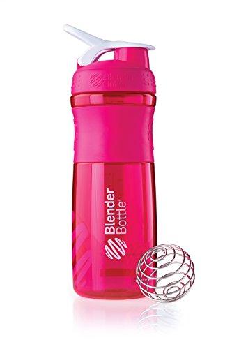 BlenderBottle Sportmixer Tritan-/ Protein-/ Diät shaker, Wasserflasche, pink transparent, 820ml