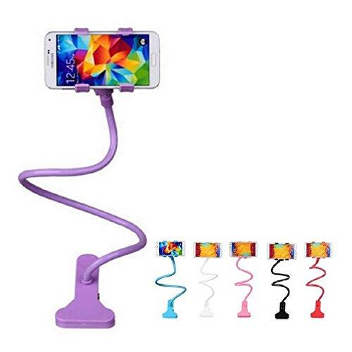 Creative PANNIUZHE Supporto universale con braccio lungo e flessibile, con supporto Mobile Phone-Supporto per iPhone, Smartphone, Samsung, Sony, fotocamere, ecc. Viola