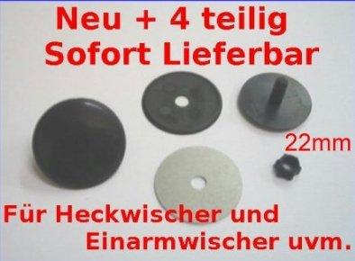 Preisvergleich Produktbild Kappe Zierschraube 22mm schwarz Blindstopfen Abdeckung Heck Clean Universal