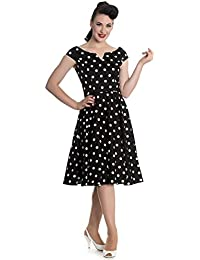 Hell Bunny Nicky 50s retro Pin Up Polka Dots Rockabilly Swing Petticoat Kleid