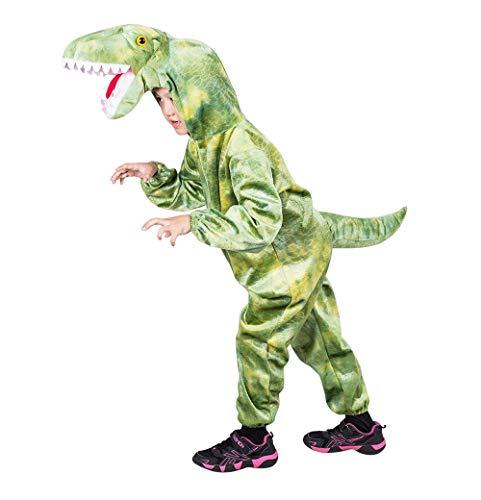 Ikumaal Dino-Kostüm T-Rex F122 Gr. 104-110, Kind-er Tyrannosaurus Saurier Dinosaurier-Kostüme Drache-n Fasching-s Karneval-s Geburtstags-Geschenk