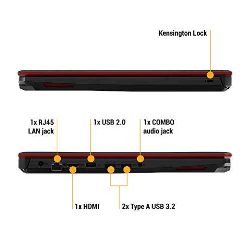"ASUS TUF Gaming FX505GD 15.6"" FHD Laptop GTX 1050 4GB Graphics (Core i5-8300H/8GB RAM/1TB HDD/Windows 10/Black Plastic/2.20 Kg), FX505GD-BQ136T Image 6"
