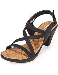 Khadims Womens Faux Leather Block Heels