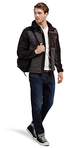 TOM TAILOR Herren Jacke Softshell/Melange Mix Jacket Black