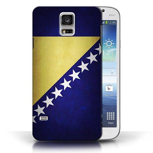 Coque en plastique pour Samsung Galaxy S5/SV Collection Drapeau - Pays de Galles/gallois Bosnie-Herzégovine