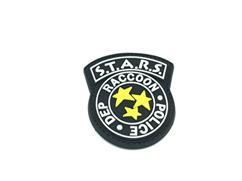 Racoon Sterne Police DEPT Resident Evil Black PVC, Klett, Airsoft