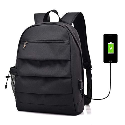 MFHSB Travel Laptop Rucksack, Business Laptop Rucksack mit USB-Ladehafen, Water Resistant College School Computer Rucksack Tasche für Men/Frauen,Black