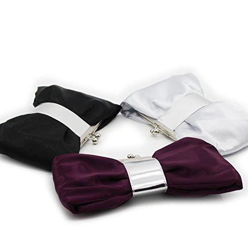 B-JOY, Poschette giorno donna viola Violett mini Tasche Nero
