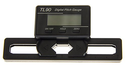 Digital Pitch Gauge (XUNJIAJIE 1pcs Digitale Pitchlehre RC Heli Logger Gauge TL90 W/LCD für T-Rex Heli)