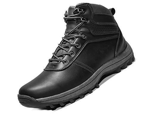 SINOES Männlich KX85-8-9 Klassische Stiefeletten Höhe Stiefel Classic Schlupfstiefel Trekking Wanderhalbschuhe Schwarz 42 EU -