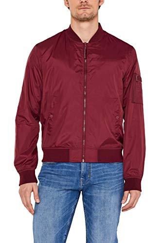 ESPRIT Herren 039Ee2G004 Jacke, Rot (Bordeaux Red 600), Medium (Herstellergröße: M)