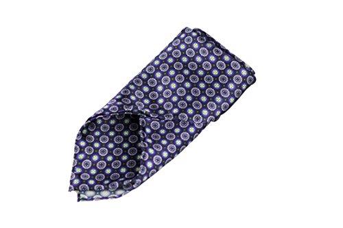 Sir Alex Herren Einstecktuch handrolliert aus reiner Seide in edler Geschenk-Box. Elegantes Seiden-Tuch mit Knopf-Muster anthrazit/ lila/ rosa zum Sakko oder Anzug. (Anthrazit Lila Rosa) (Ein-knopf-seide-anzug)