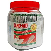 Band-Aid Fabric Jom Band-AID Flexi, 100 Pieces with Free 30 Pieces, (Multicolor) (1Pc)