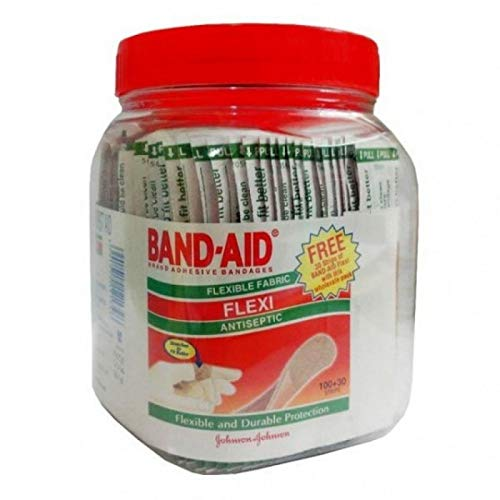 Band-Aid Jom Band-AID Flexi, 100 Pieces with Free 30 Pieces
