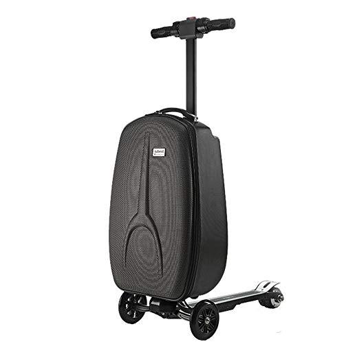 XSWE Gepäck, Elektro-Scooter-Koffer, Faltbarer 3 Wheel-Scooter-Bitter Reise-Trolley Perfekt für Geschäftsreisen und School,20 Inch