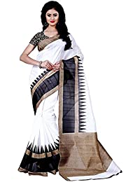 Saree ( Patankarfab White Cotton Silk Designer With Blouse Piece Women Saree ) - BPURI44