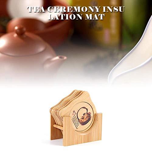 Dough.Q Premium Design Untersetzer (6er Set) - Dekorative Untersetzer Für Glas, Tassen, Vasen, Kerzen Auf Ihrem Esstisch Aus Bamboo, Glas Oder Stein (rund)